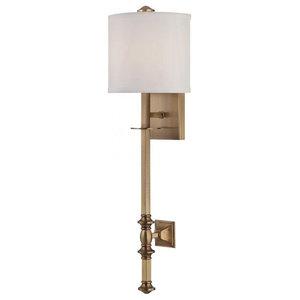 Savoy House Devon 1-Light Sconce, Warm Brass