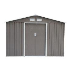 Outsunny 9'x6' Metal Outdoor Backyard Garden Utility Storage Tool Shed Kit