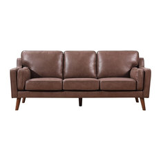 Us Pride Furniture Corp   Westbury Park Modern Luxurious Sofa, Brown/Tan    Sofas