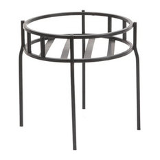 Panacea™ 86615 Contemporary Plant Stand, Black Powder Coated Steel, 10.5""