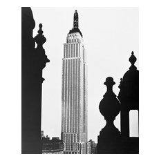"""The Empire State Building Under Construction, 1930, 8""""x10"""" Matted"""