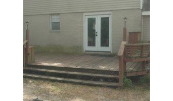 Before and After House Painting/ Deck Sealer in Metairie, LA