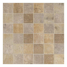 Marazzi UJ34221P Cream Porcelain Mosaics, Matte Finish, Sample