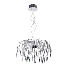 Amour 16-Light Chrome Chandelier, Crystal: Elegant Cut