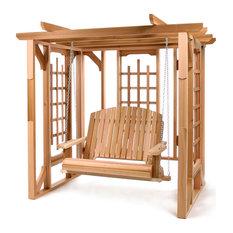 Cedar Pergola & Swing Set