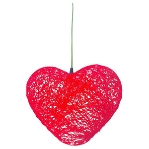 Heart Ceiling Lamp, Red, Large