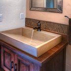Caesarstone Quartz Vanity Top W Double Ramped Sinks