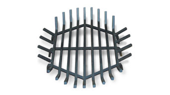"""Rounded Fire Pit Grates 40"""""""