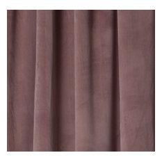 "Milan Mauve, Luxurious Velvet, Box Pleat Drapery Panel, Lined, 24 X 115"""