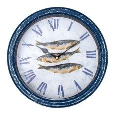 Sea Creature Wall Clock, Sardines