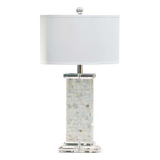 Brook Mother of Pearl Table Lamp, Natural