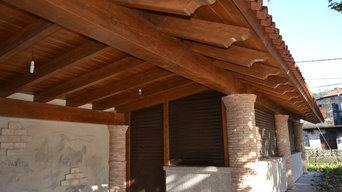 Tejado en madera