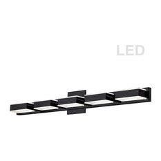 5-Light LED Wall Vanity, Matte Black
