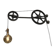 West Ninth Vintage - Wall Pulley Light - Swing Arm Wall Lamps