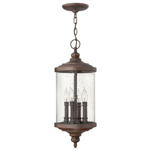 Hinkley 1601MB Traditional Four Light Post Top// Pier Mount from Raley collection in Blackfinish Hinkley Lighting