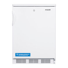 """Summit 24"""" 5.5 cu.ft. Capacity Compact Refrigerator with Front-mounted Lock"""