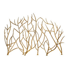 Uttermost Fireplace Screen Gold Branches Accessories