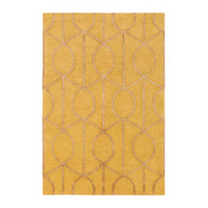 Transitional 7'6  x9'6   Yellow Area Rug