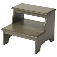 Melrose Step Stool, Silver Satin