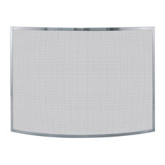 Mr. Bar-B-Q, LLC. - Single Panel Pewter Screen - Fireplace Screens