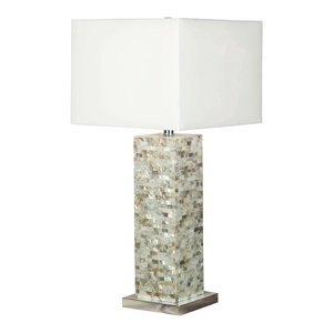 Kenroy Home 32025MOP, Pearl Table Lamp, Mother of Pearl