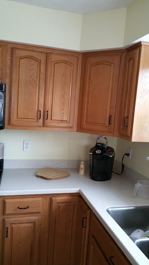 Replace Arches Topped Builder Grade Cabinet Doors With Square Framed D