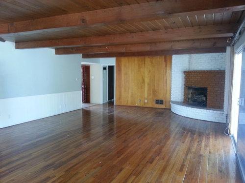Help Choosing Stain Color For Wood Floorshas Existing Wood Celings