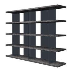 Modloft Beekman Bookcase, Gray Oak