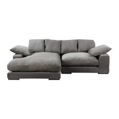 Moe's Home Plunge Sectional, Charcoal