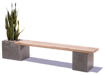 Elegant Modern Outdoor Benches by Etsy