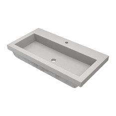 Trough 3619 Bathroom Sink, Ash, Single Faucet Cutout
