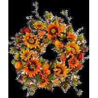 "24"" Sunflowers/Lantern/Corn Wreath"