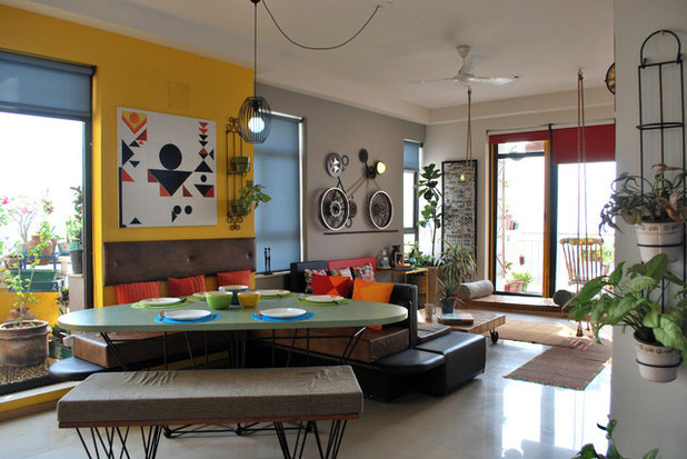 Houzz Tour: This Noida Home Gives a Crash Course in Space Management