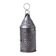 15-Inch Primitive Lantern in Smokey Black