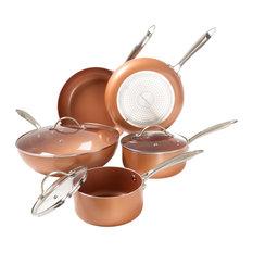 Classic Cuisine - Classic Cuisine 8-Piece Cookware Set, Nonstick Ceramic Coating, Tempered Lid - Cookware Sets