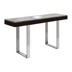 Casabianca Home   Glacier Wenge Veneer/Gray Marble Console Table   Console  Tables