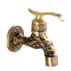 Dragon Brass Antique Faucet Mop Pool Faucet Wall Faucet Kitchen, Garden