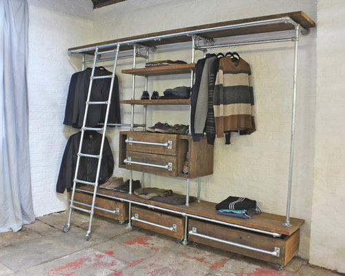 Industrial Closet Design Ideas Remodels Photos