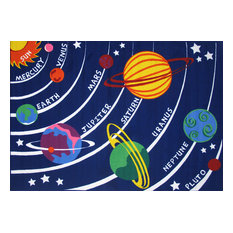 Fun Rugs Fun Time Collection Solar System Area Rug, 8'x11'