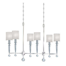 6 Light Standard Bulb Island Light, Polished Nickel