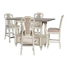Liberty Furniture Industries, Inc.   Liberty Magnolia Manor Gathering Dining  Set In Antique White