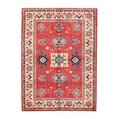 Pasargad Kazak Collection Hand-Knotted Wool Area Rug, 5'x7'
