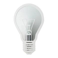 Joro Steel Bulb Wall Lamp, Matte White