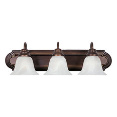 Essentials 3-Light Bath Vanity Sconce, Oil Rubbed Bronze, Marble