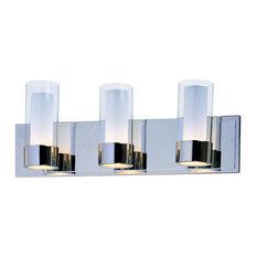 Silo 3-Light Bath Vanity Sconce, Polished Chrome