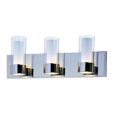 Silo 3-Light Bath Vanity Sconce, Polished Chrome