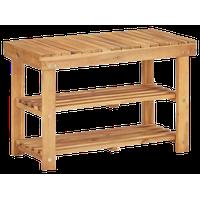 "vidaXL Solid Acacia Wood Shoe Rack Slatted 27.5"" Bench Shelf Stand Organizer"