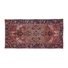 Esmaili Rugs - Consigned, Antique Heriz Persian Gallery Rug With Modern Style, 5'01x10'02 - Area Rugs