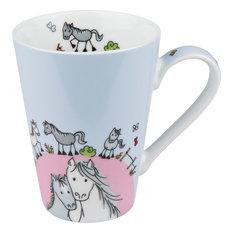 Globetrotter Mugs, Horse, Set of 4