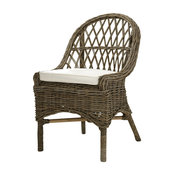 Kubu Cross Weave Dining Chair, Set of 2